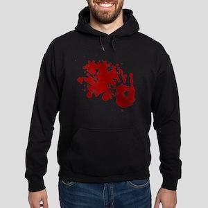 back shirt Hoodie (dark)