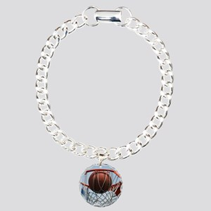 baskertball Charm Bracelet, One Charm