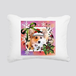 Pembroke Corgi Holiday Rectangular Canvas Pillow