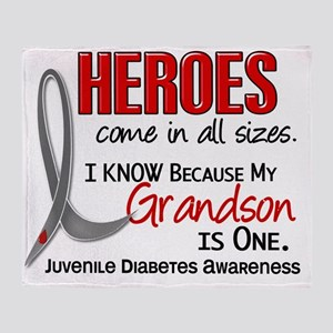 D Heroes All Sizes Grandson Juvenile Throw Blanket