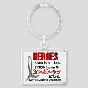 D Heroes All Sizes Granddaughte Landscape Keychain
