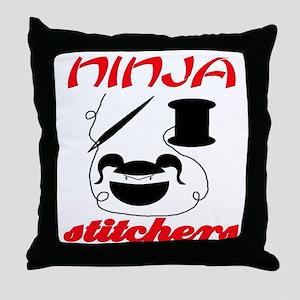 ninja stitchers Throw Pillow