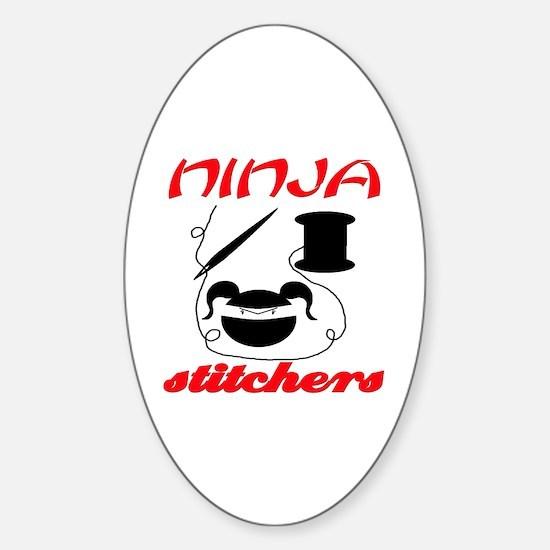 ninja stitchers Oval Decal