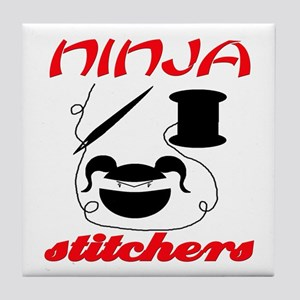ninja stitchers Tile Coaster