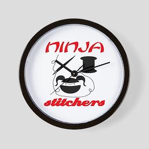 ninja stitchers Wall Clock
