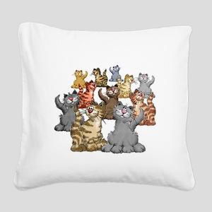 youGetACat_back_wWhiteTxt Square Canvas Pillow