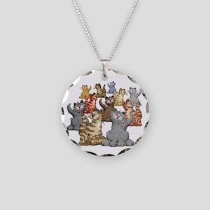 youGetACat_back_wWhiteTxt Necklace Circle Charm