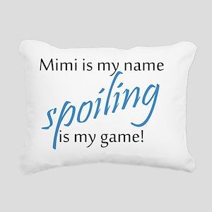 Mimi Blue Rectangular Canvas Pillow