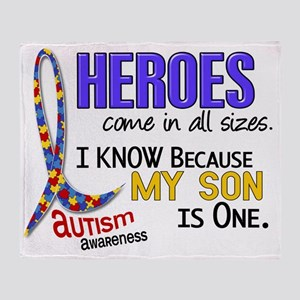 D Heroes All Sizes Autism Son Throw Blanket