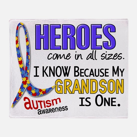 D Heroes All Sizes Autism Grandson Throw Blanket