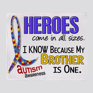 D Heroes All Sizes Autism Brother Throw Blanket