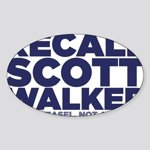 ART Recall Walker 2 Sticker (Oval)