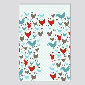 flipflops-chickens Postcards (Package of 8)