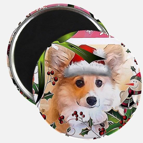 Pembroke Corgi Holiday Magnets