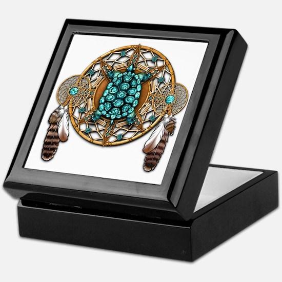 Turquoise Tortoise Dreamcatcher Keepsake Box