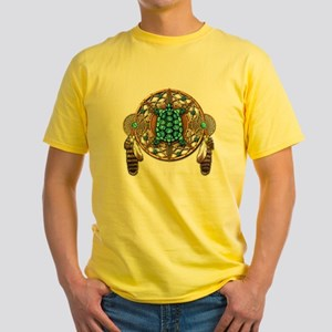 Turquoise Tortoise Dreamcatcher Yellow T-Shirt
