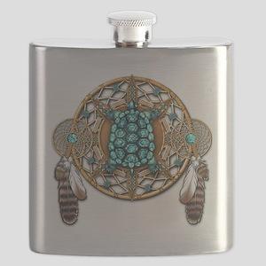Turquoise Tortoise Dreamcatcher Flask