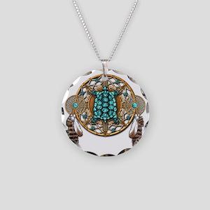Turquoise Tortoise Dreamcatc Necklace Circle Charm