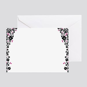 floral white post Greeting Card