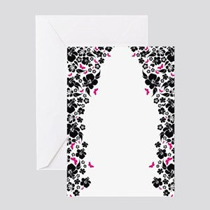 floral white ipad Greeting Card