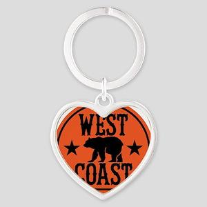 westcoast01 Heart Keychain