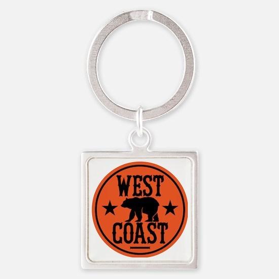 westcoast01 Square Keychain