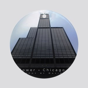 16x20_poster_Willis Tower-black Round Ornament