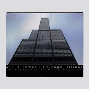 16x20_poster_Willis Tower-black Throw Blanket