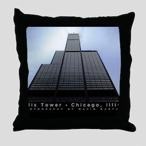 16x20_poster_Willis Tower-black Throw Pillow
