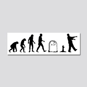 zombie evolution Car Magnet 10 x 3