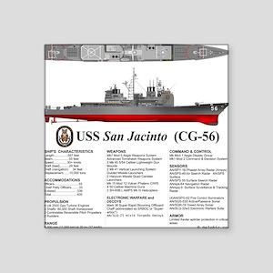 """Tico_CG-56_Tshirt_Back Square Sticker 3"""" x 3"""""""