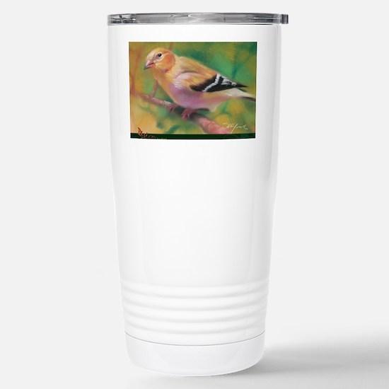 CardH_Goldfinch Stainless Steel Travel Mug