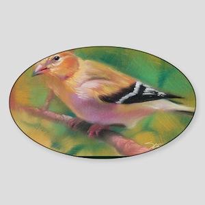 CardH_Goldfinch Sticker (Oval)