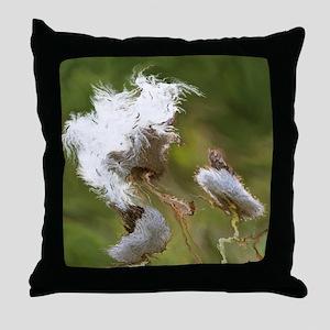 fractal effect flower Throw Pillow