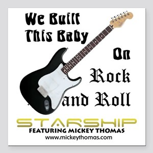 """RockAndRollBaby Square Car Magnet 3"""" x 3"""""""