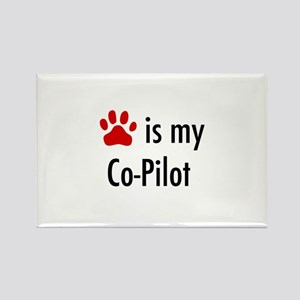 Dog is my Co-Pilot Rectangle Magnet