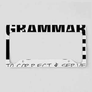 Grammar Police License Plate Holder