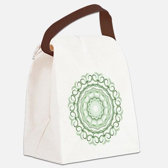 Green apples Kaleidoscope Canvas Lunch Bag
