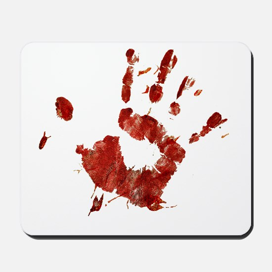 Bloody Handprint Right Mousepad