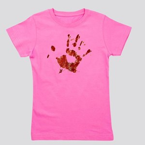 Bloody Handprint Right Girl's Tee