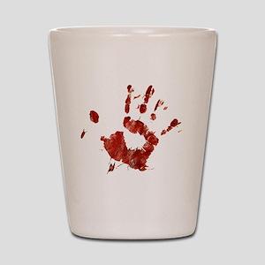 Bloody Handprint Right Shot Glass