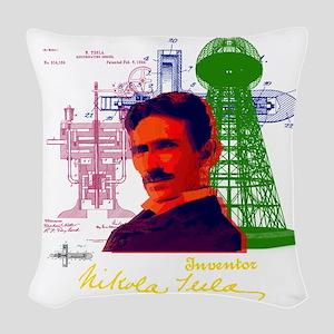 tesla Woven Throw Pillow