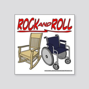 """Rock and Roll Square Sticker 3"""" x 3"""""""