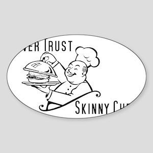 SkinnyChef Sticker (Oval)