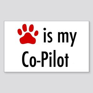Dog is my Co-Pilot Rectangle Sticker