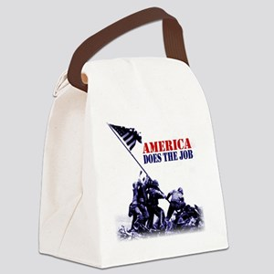 2-7 white Canvas Lunch Bag