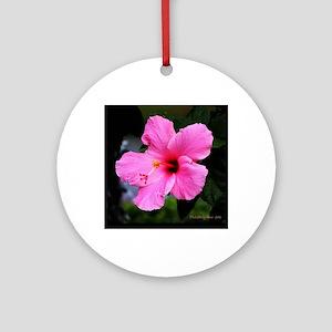 hibiscus Round Ornament