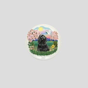 Blossoms-BlackCocker Mini Button