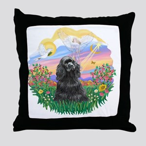 Guardian-Black Cocker Throw Pillow