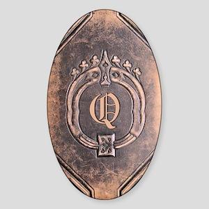 Book_Q Sticker (Oval)